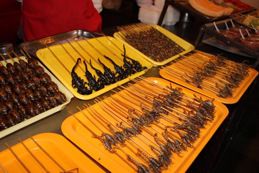 insects wangfujing nightmarket