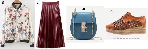 Flora-Bomberjacket-red-Plisse-Skirt-Chloe-Drew-Bag