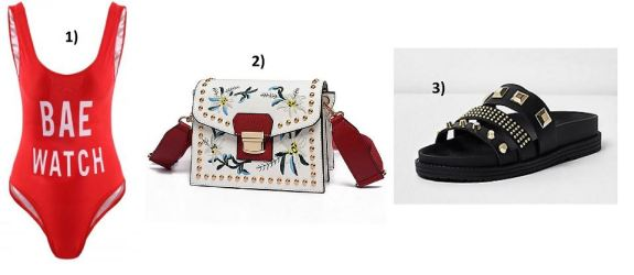 Baywatch-Swimsuit-RiverIsland-Slippers-Studs-Studded-Bally-Bag