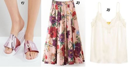Flowerprint-Skirt-Adiletten-Metallic-Lacetop-carrieslifestyle