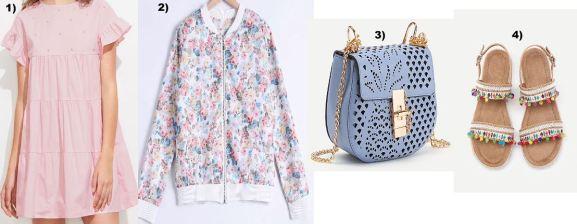 pink-dress-bomberjacket-floral-pompom-sandals-carrieslifestyle-Tamara-Prutsch