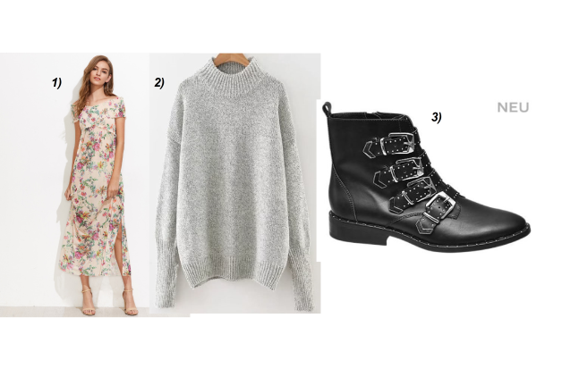 Deichmann-Boots-Studs-Floral-Print-Dress-Grey-Sweater-Chanel-Bag-carrieslifestyle