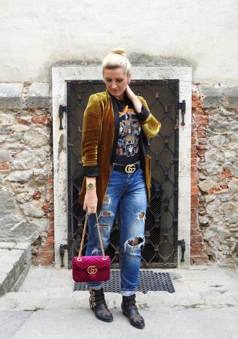 Bolia-Store-Opening-Graz-Murgasse-Skandinavian-Design-Möbel-Blogger-Event-carrieslifestyle-Tamara-Prutsch-Velvelt-Blazer-Gucci-Belt-Bag-Studded-Boots-Nieten-Fishnet-Stockings