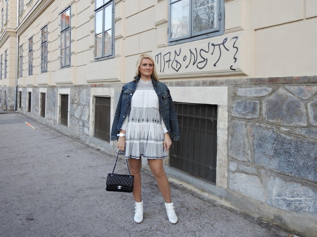 Dark-Denim-Leather-Weiße-Leder-Boots-Suzanna-Chloe-Deichmann-Zara-Dress-Jeansjacke-carrieslifestyle-Tamara-Prutsch-Chanel-Tasche-Stefano-Lungo-Uhr-Watch